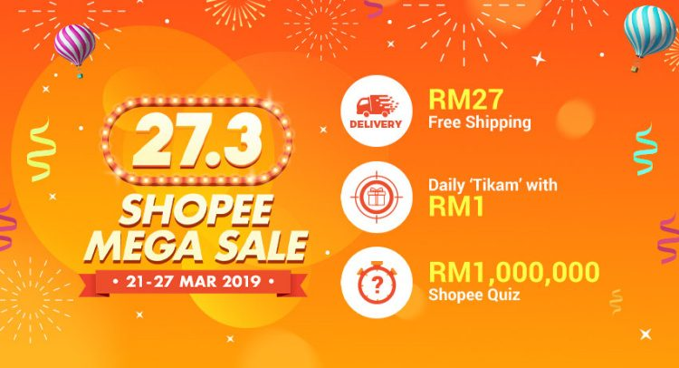 27.3 Shopee Mega Sale is coming soon as Shopee becomes number one e-commerce site in Malaysia