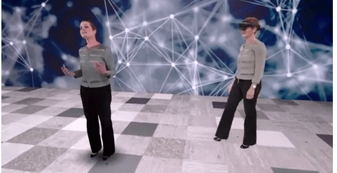 Microsoft has a wild hologram that translates HoloLens keynotes into Japanese
