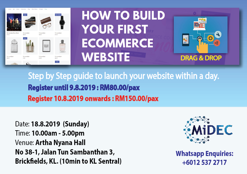 Build Own e-Commerce Website (18.8.2019)