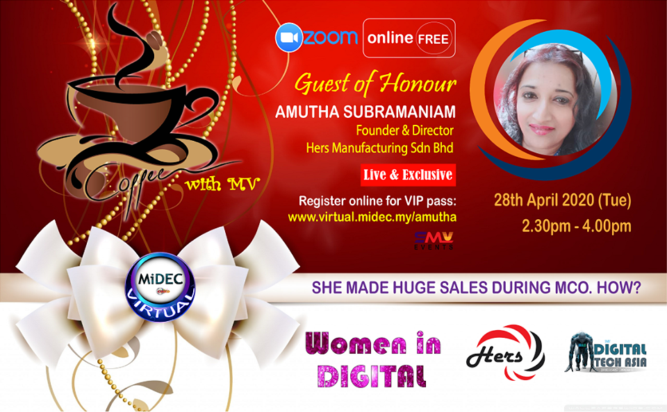 Coffee with Amutha Subramaniam:  28th April 2020 (Tues) – DONE