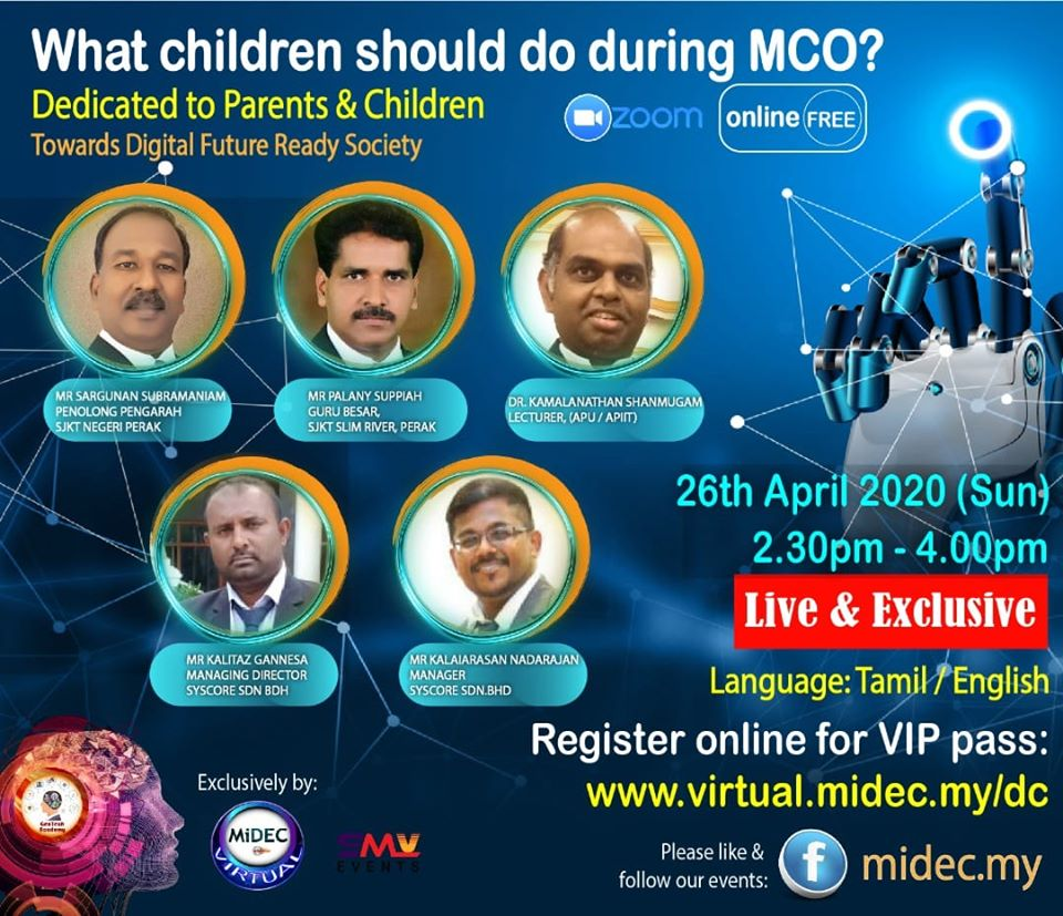 What children should do during MCO?: 26th April 2020 (Sun) – DONE