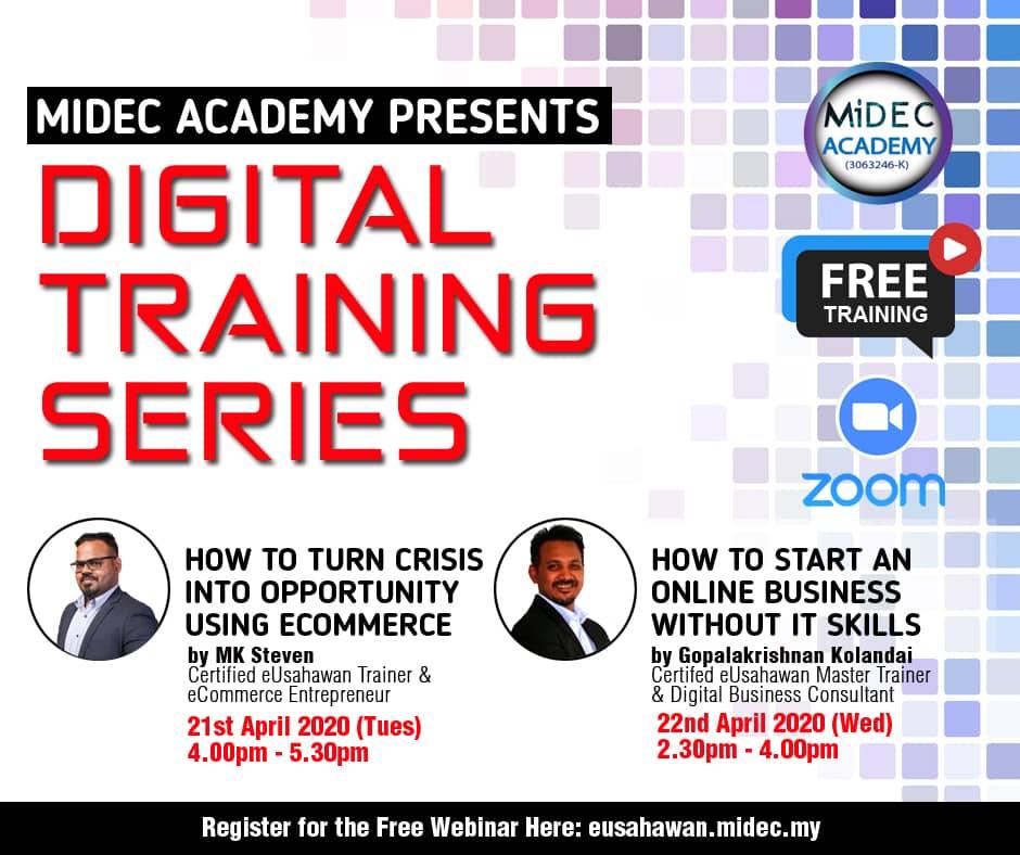 Digital Training Series – Live Webinar : 21 & 22 April 2020 – DONE