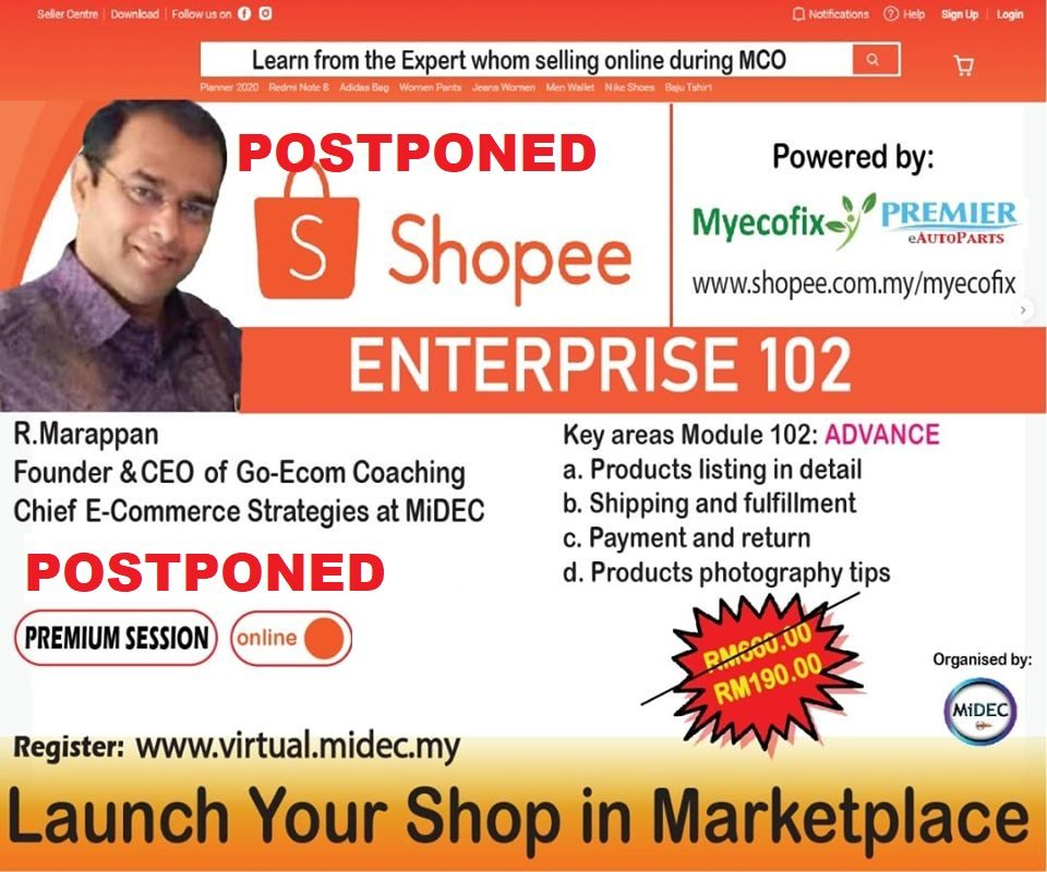 Shopee Enterprise 102 -MiDEC Virtual Classroom: POSTPONED – New Date TBA