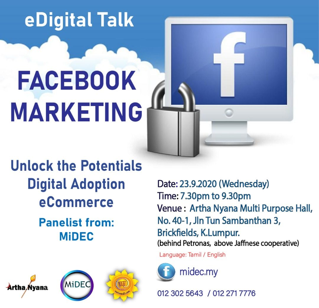 FREE EDUCATIVE WORKSHOP :- Topic : FACEBOOK MARKETING – UNLOCK THE POTTENTIALS